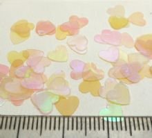 Pearlised hearts for cards & toppers. 6mm